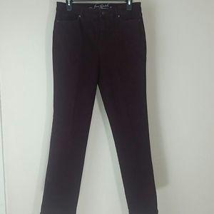 Gloria Vanderbilt jeans purple brushed denim
